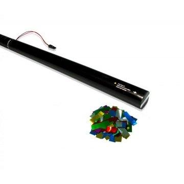 TUBO SPARACORIANDOLI ELETTRICO 80 cm - CORIANDOLI MULTICOLOR METALLIZATO