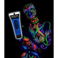 VERNICE UV PAINT FLUO PER VISO E CORPO 10 ml COLORE BLU